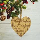 Personalised Will You Marry Me? Christmas Proposal Engagement Heart